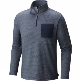 Mountain Hardwear Mountain Hardwear Mens Mainframe L/S 1/4 Zip Hardwear Navy