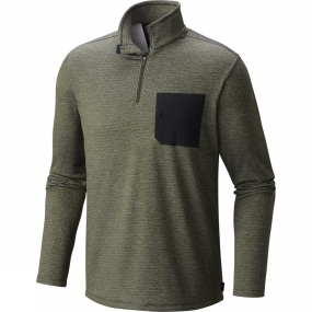 Mountain Hardwear Mountain Hardwear Mens Mainframe L/S 1/4 Zip Surplus Green