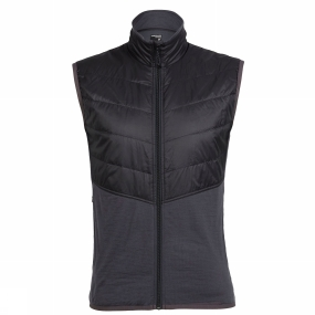 Icebreaker Icebreaker Mens MerinoLoft Ellipse Vest Monsoon/Black/Black