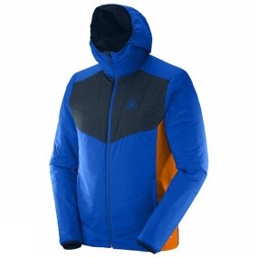 Salomon Salomon Mens Drifter Mid Hoodie Brilliant Blue