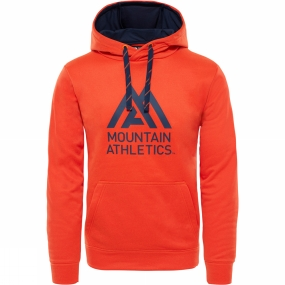 The North Face The North Face Mens Surgent Halfdome Pro Hoodie Persian Orange Heather/Urban Navy