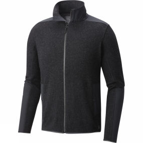Mountain Hardwear Mountain Hardwear Mens Mtn Tactical F/Z Sweater Black
