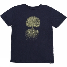 United By Blue Mens Tree Roots Tee Blue Night