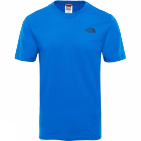 The North Face The North Face Mens Short Sleeve Red Box Tee Bomber Blue