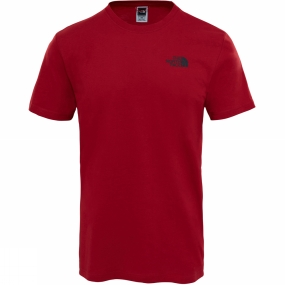The North Face The North Face Mens Short Sleeve Red Box Tee Cardinal Red