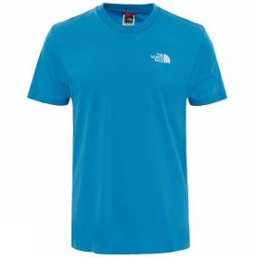 The North Face Mens Short Sleeve Simple Dome Tee Cendre Blue