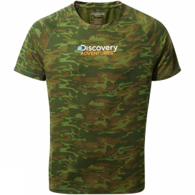 Craghoppers Craghoppers Mens Discovery Adventure Short Sleeve T-Shirt Dark Moss Combo