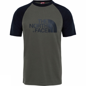 The North Face The North Face Mens Short Sleeve Raglan Easy Tee New Taupe Green