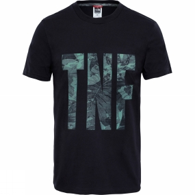 The North Face The North Face Mens TNF T-Shirt TNF Black/ English Tropical Green