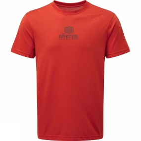 Sherpa Sherpa Mens Hero Tee Geelo Clay