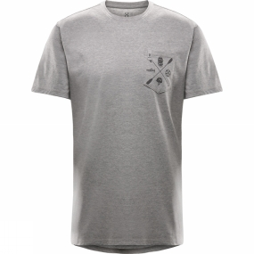 Haglofs Mens Mirth Tee Grey Melange Haglofs Mens Mirth Tee Grey Melange by Haglofs