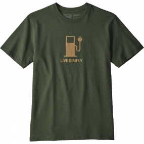 Patagonia Mens Live Simply Power Responsibili-Tee T-Shirt