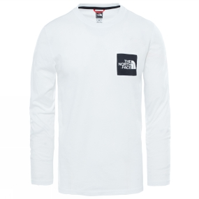The North Face The North Face Mens Long Sleeve Fine T-Shirt TNF White