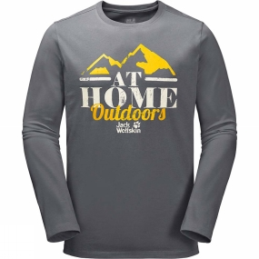 Jack Wolfskin Mens At Home Long Sleeve Top