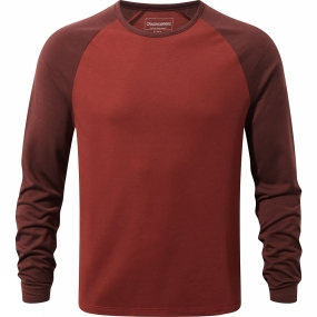Craghoppers Craghoppers Mens Loki Long Sleeve T-Shirt Redwood