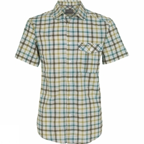 Craghoppers Mens Avery Short-Sleeved Check Shirt Parka Green Combo