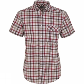 Craghoppers Mens Avery Short-Sleeved Check Shirt Chesterfield Red Combo