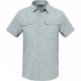 The North Face The North Face Mens Short Sleeve Pine Knot Shirt Moonlight Blue Plaid