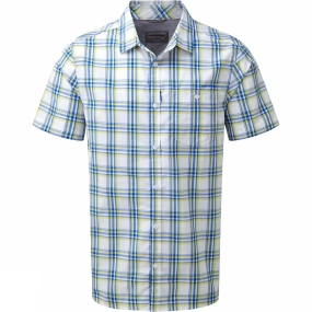 Craghoppers Craghoppers Mens Edgard Short Sleeve Shirt Deep China Blue Check