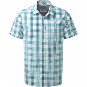 Craghoppers Craghoppers Mens Edgard Short Sleeve Shirt Bright Teal Check