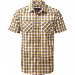 Craghoppers Craghoppers Mens Corin Short Sleeve Check Shirt Dusk Blue Check