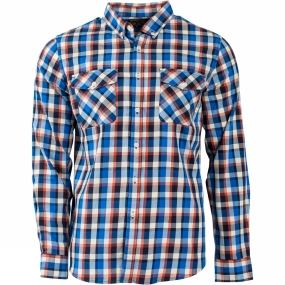 United By Blue United By Blue Mens Hawkweed Plaid Shirt Orange/Navy