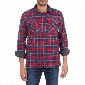Ayacucho Ayacucho Mens Insulated Flannel Shirt Navy/Red Check