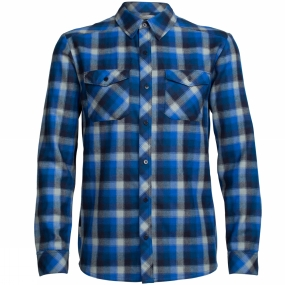 Icebreaker Mens Lodge Long Sleeve Flannel Shirt Largo/