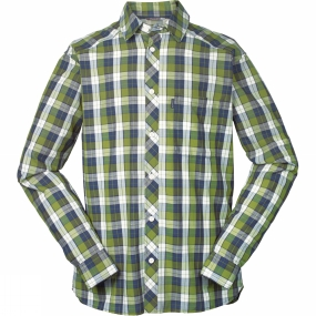 Haglofs Haglofs Mens Frode Long Sleeve Shirt Calla Green/Deep Blue