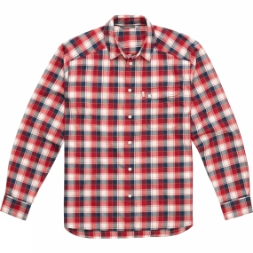 Haglofs Haglofs Mens Tarn Flannell Shirt Real Red / Blue Ink