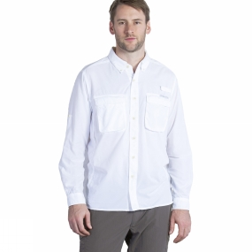 ExOfficio Mens Air Strip Long Sleeve Shirt