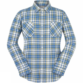 Ayacucho Mens Flannel Shirt Blue/Yellow