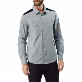 Craghoppers Craghoppers Mens Discovery Adventures Long Sleeve Shirt Quarry Grey