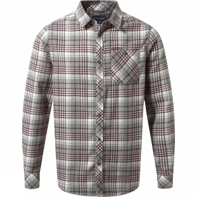 Craghoppers Craghoppers Mens Bjorn Long Sleeve Check Shirt Quarry Grey