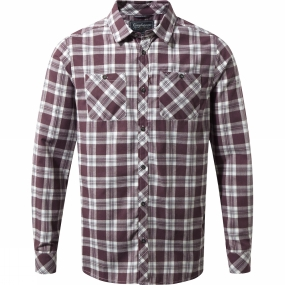 Craghoppers Craghoppers Mens Andreas Long Sleeve Check Shirt Red Wine Check