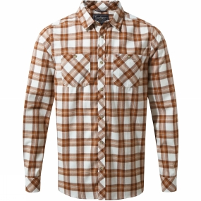 Craghoppers Craghoppers Mens Andreas Long Sleeve Check Shirt Burnt Umber Check