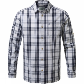 Craghoppers Craghoppers NosiDefence Blayney Long Sleeve Check Shirt Blue Navy