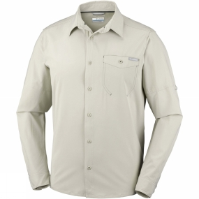 Columbia Columbia Mens Triple Canyon Solid Long Sleeve Shirt Fossil