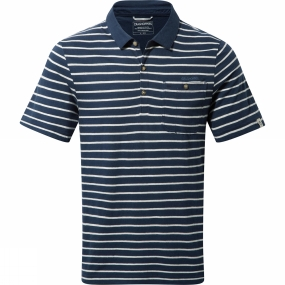 Craghoppers Craghoppers Mens Fraser Short Sleeve Polo Night Blue Combo