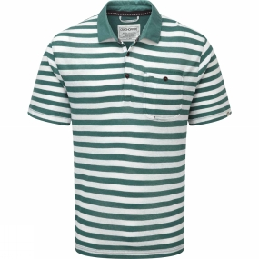 Craghoppers Craghoppers Mens Fraser Short Sleeve Polo Lake Green / Calico
