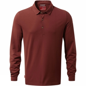 Craghoppers Craghoppers Mens NosiLife Ellerbek Polo Shirt Red Earth