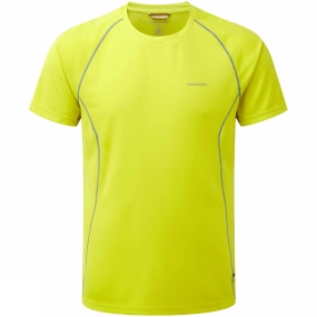 Craghoppers Mens Vitalise Base T Spring Yellow