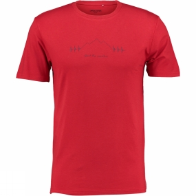 Ayacucho Mens Beat The Mountain T-Shirt Red