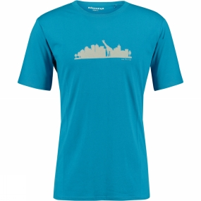 Ayacucho Mens Into the Wild T-Shirt Bright Blue