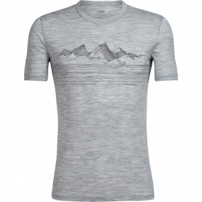 Icebreaker Icebreaker Mens  Spector Crewe Approach Tee Metro Heather