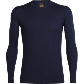 Icebreaker Icebreaker Mens Oasis Long Sleeve Crewe Midnight Navy