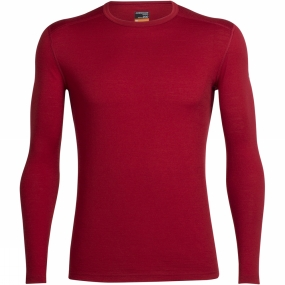 Icebreaker Icebreaker Mens Oasis Long Sleeve Crewe Oxblood