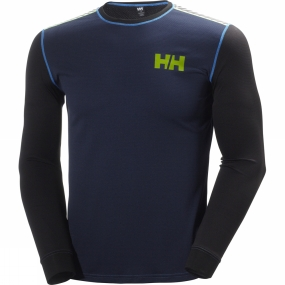 Helly Hansen Mens HH Active Flow Long Sleeve Crew Evening Blue