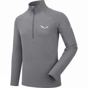 Salewa Salewa Mens Ortles Cubic Polarlite Long Sleeve Tee Quiet Shade