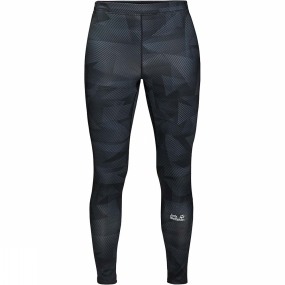 Jack Wolfskin Jack Wolfskin Mens Grid Leggings Black All Over